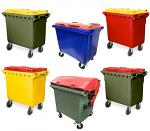 4 Wheel Plastic Bins