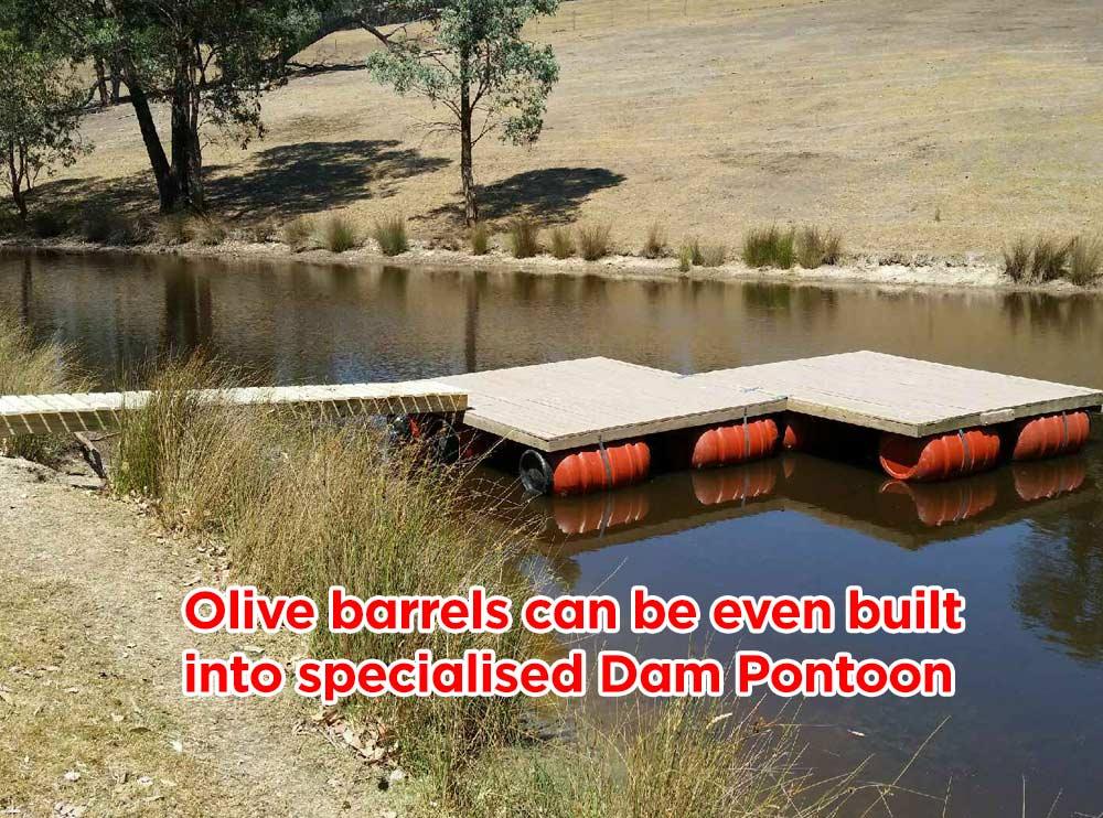 Olive Drum HDPE Plastic Barrel Dam Pontoons