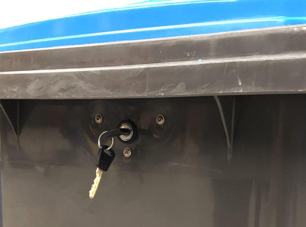 Lockable Secure 240 Litre Wheelie Bin, Wheelie Bins Supplier, Wheelie Bins Wholesaler Melbourne