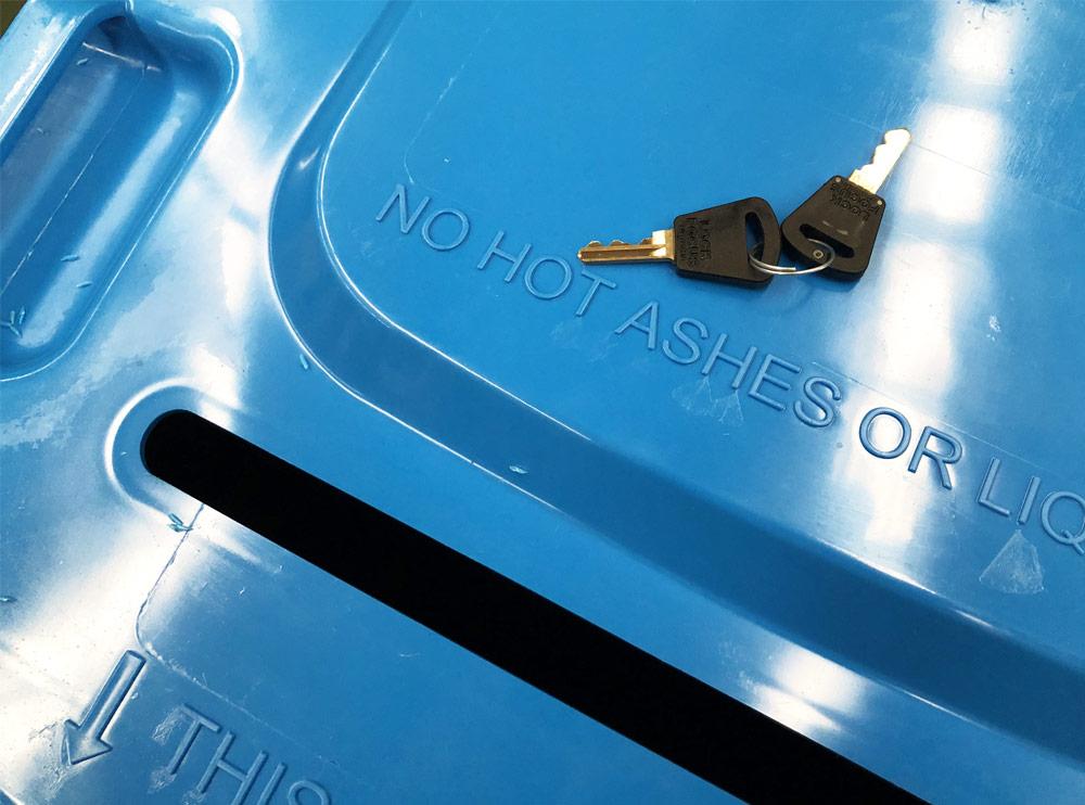Lockable Secure 240 Lt Wheelie Bin, Wheelie Bins Supplier, Wheelie Bins Wholesaler Melbourne