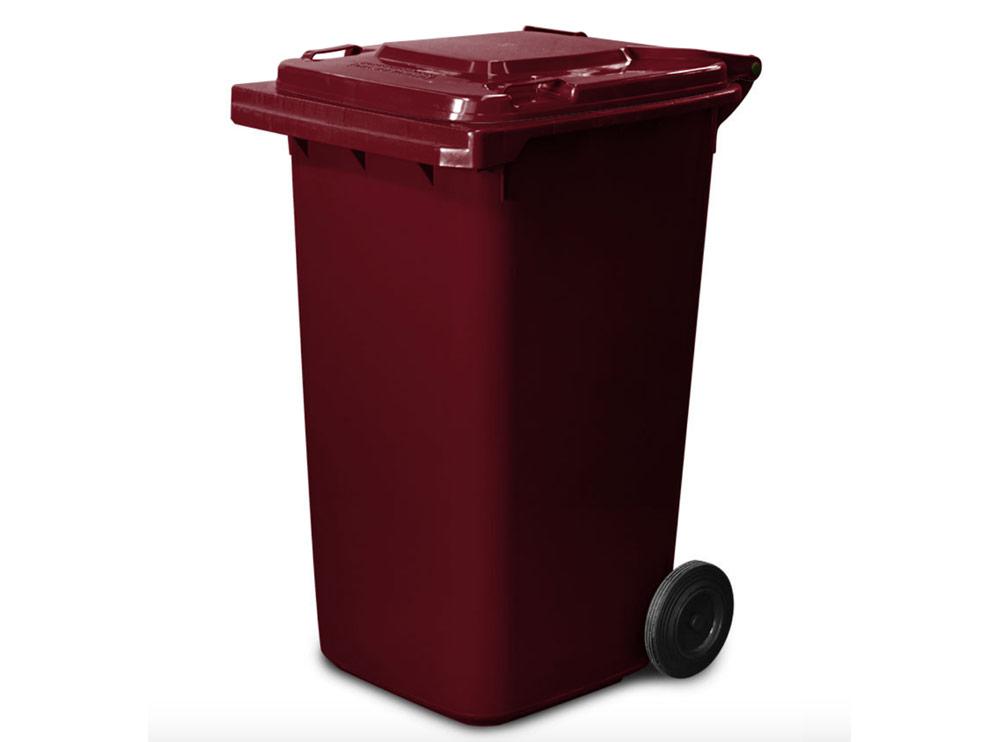 240 Lt Wheelie Bin in Burgundy Red colour, Wheelie Bins Supplier, Wheelie Bins Wholesaler Melbourne