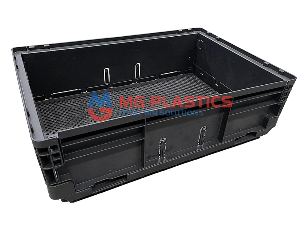 Plastic Foldable Collapsible Stackable Crate 25L