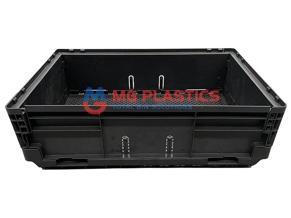 Black Plastic Foldable Crate 25L