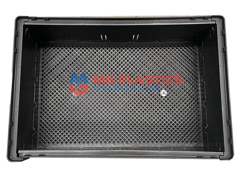 Tough Plastic Collapsible Crate 25L Black