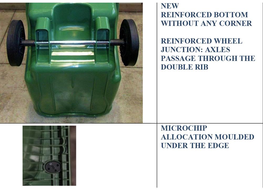 360 Litres FLEXY 2 Wheeled Bin HDPE Green