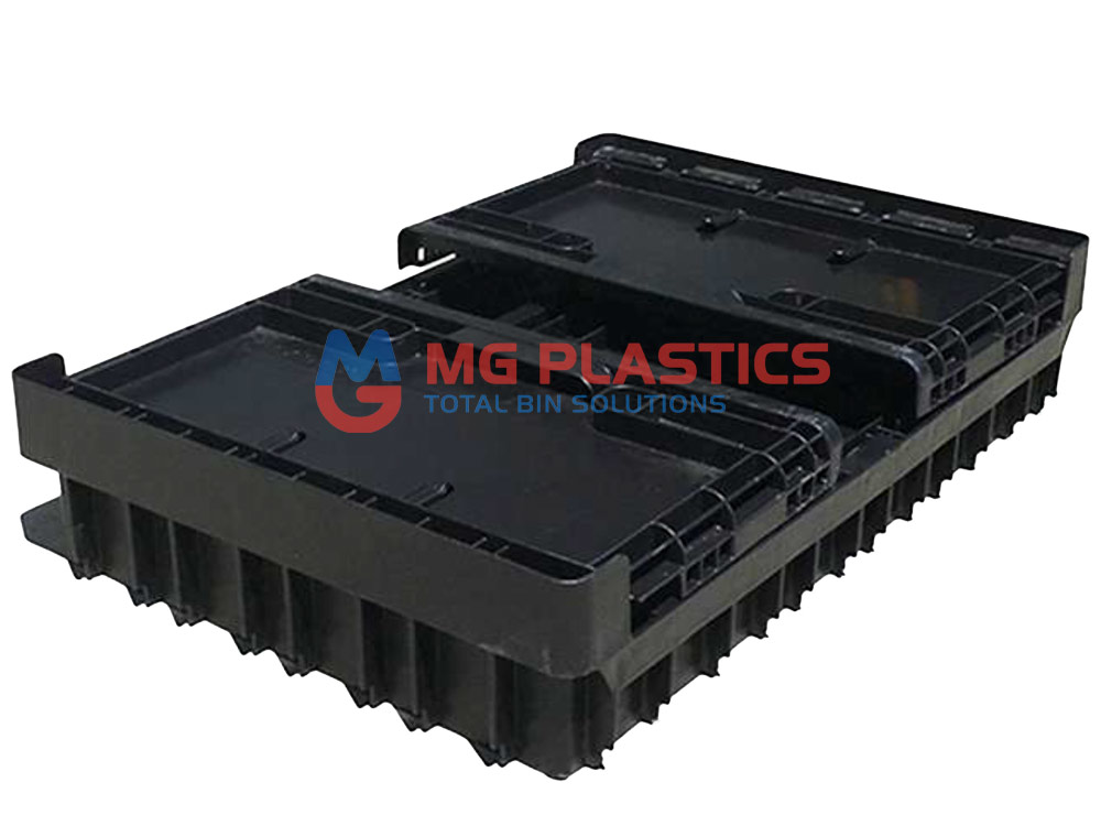 Plastic Heavy Duty Foldable Crate 50L