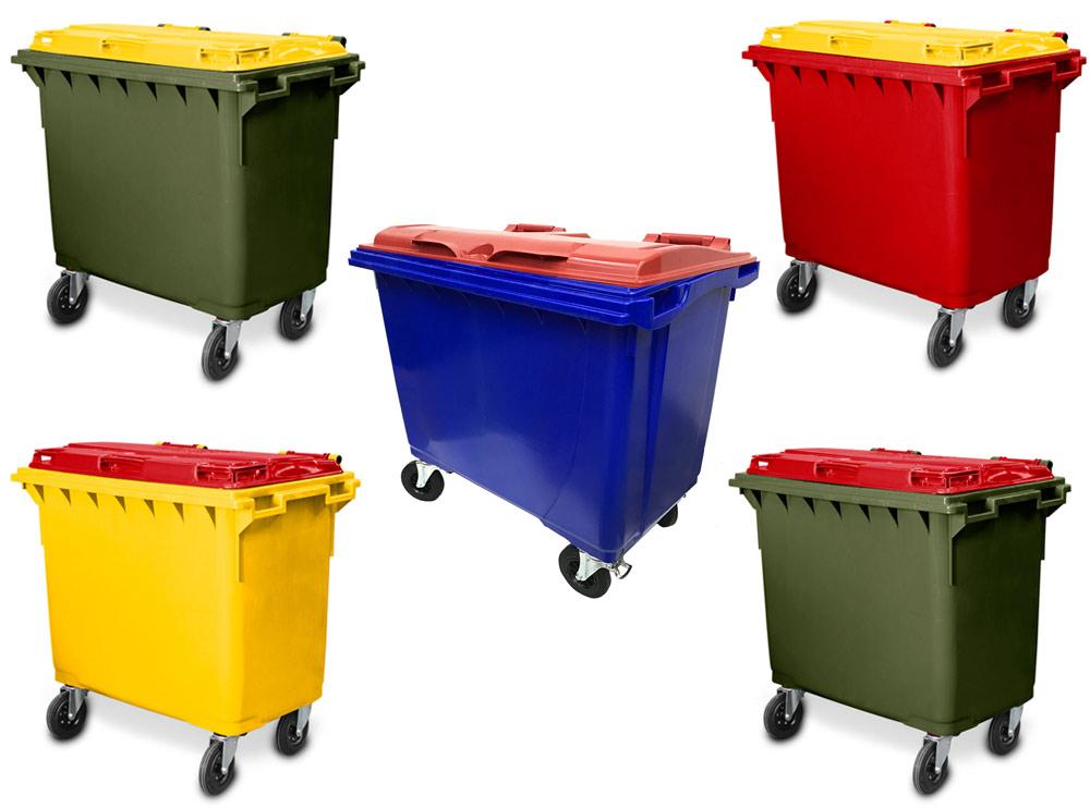 660 Litre 4 Wheel Plastic Bin Custom Lid & Body