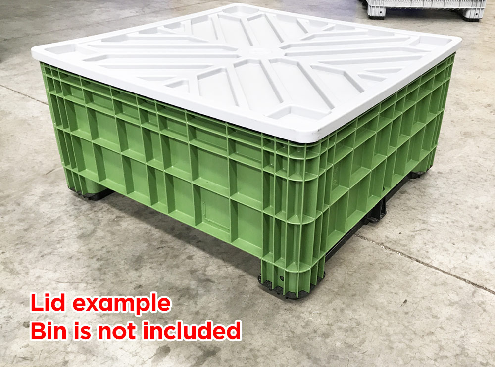 Plastic Pallet Bin Lid for BB 560 and BB 450 in Grey colour