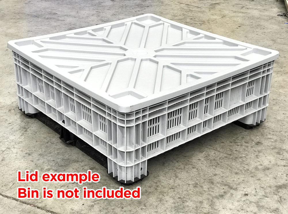 Lid suitable for BB 560 and BB 450 Plastic Pallet Bins in Grey colour