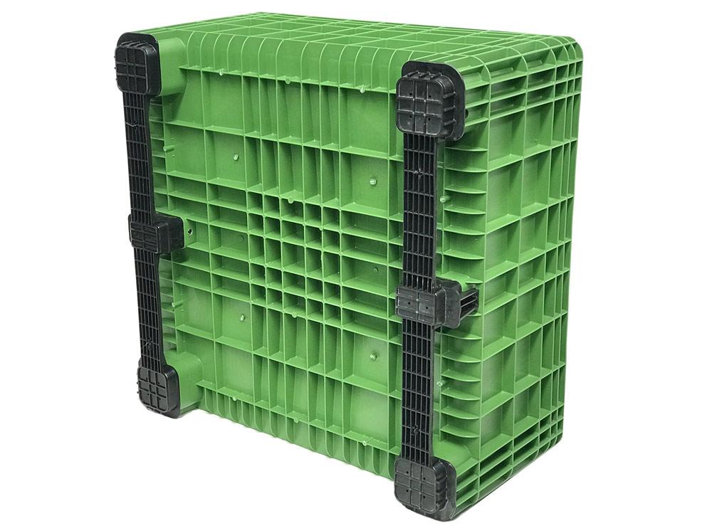 BB 560 Solid 430L Litre Plastic Pallet Bin in Green