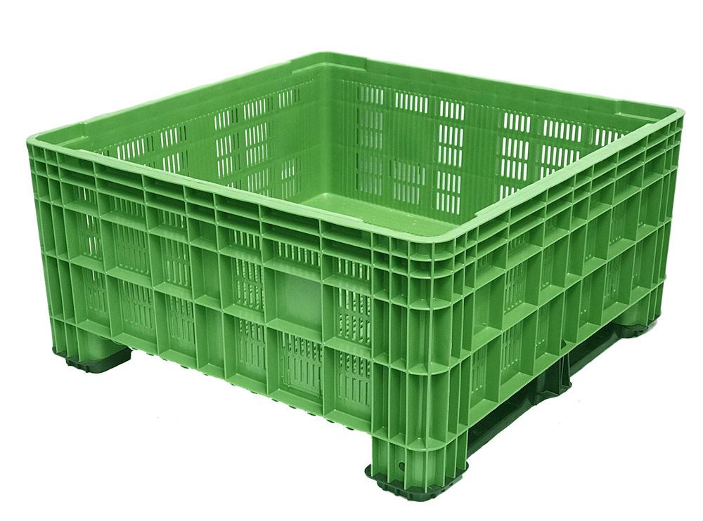 BB 560 Vented 430L Litre Plastic Pallet Bin in Green