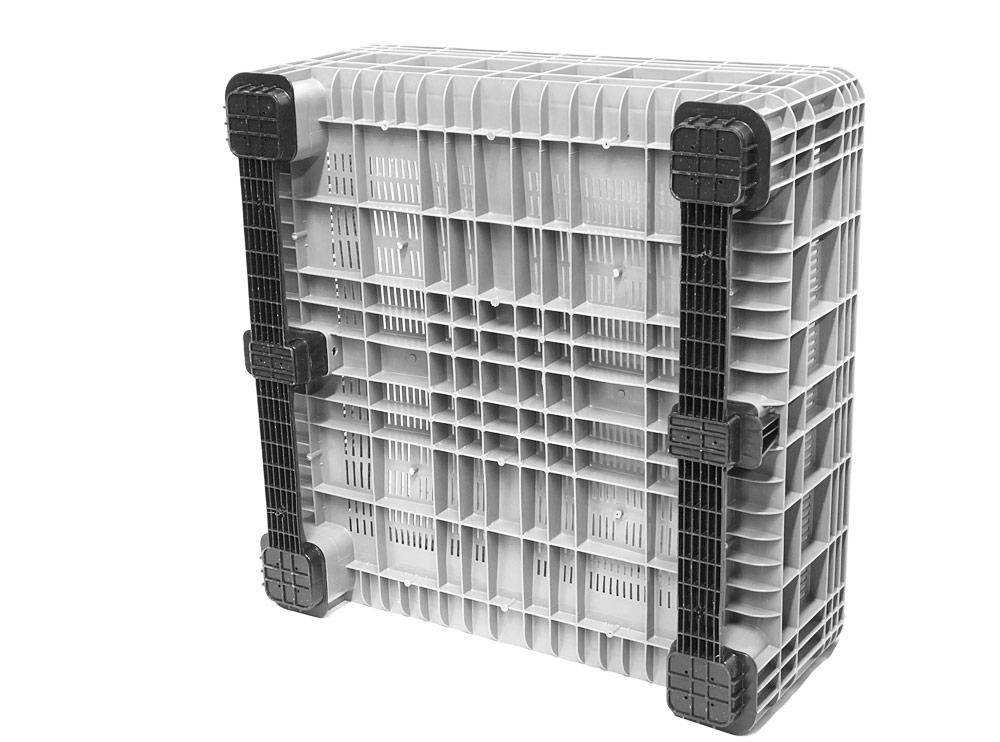 BB 450 Vented 350L Litre Plastic Pallet Bin in Grey Colour