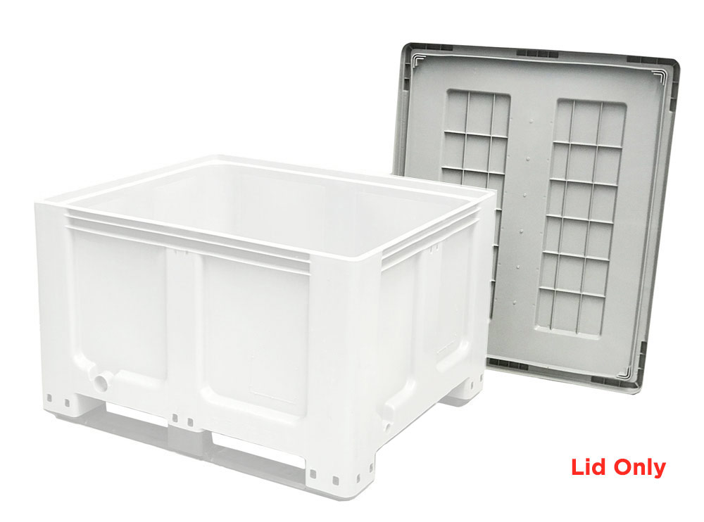 Grey Plastic Lid for CTH2 800 Solid 520L Plastic Pallet Bin with Lid