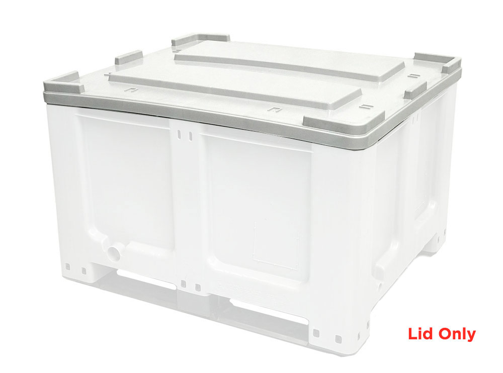 Lid for CTH2 800 Solid 520L Plastic Pallet Bin with Lid Grey