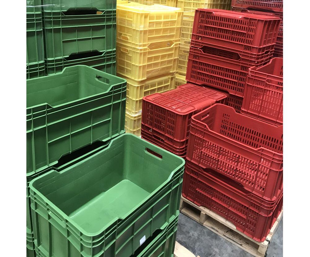 Plastic Crates Mixed