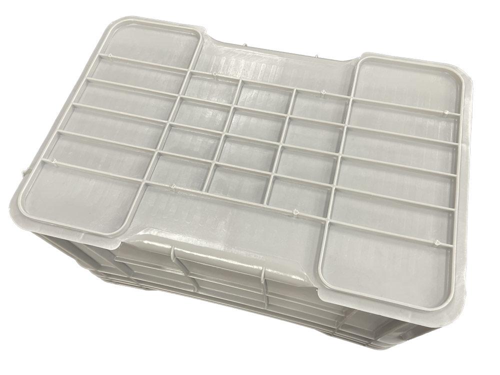 Grey Plastic Heavy Duty Crate