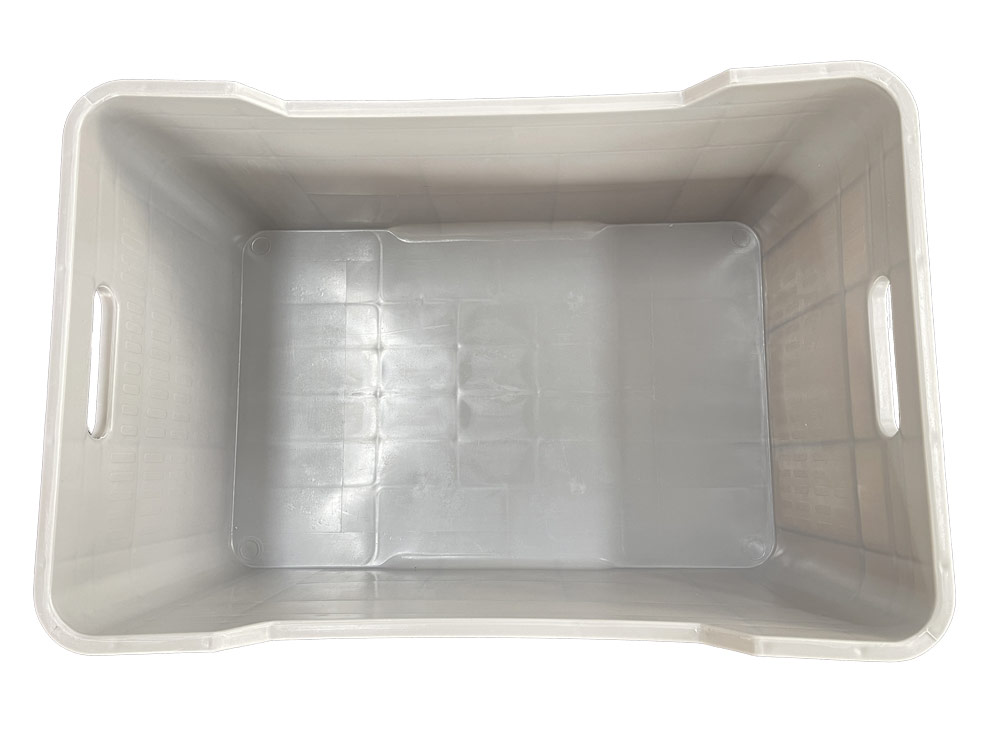Heavy Duty Plastic Crate in Grey colour