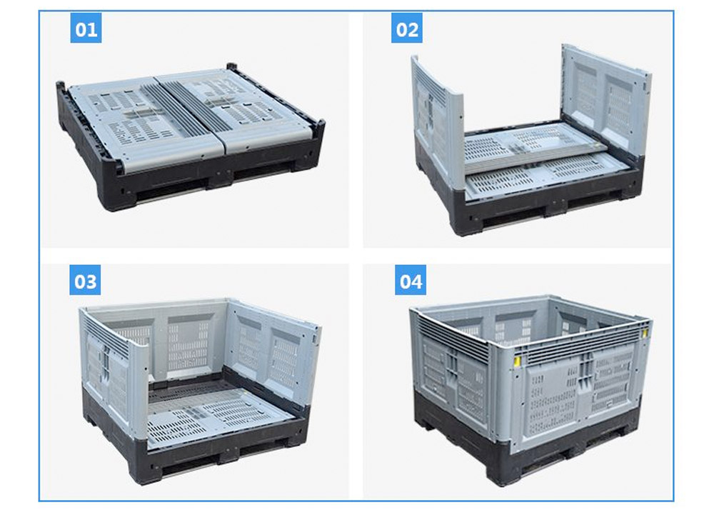 Folding Pallet Bin Vented Supplier, Collapsible Pallet Bin Vented Supplier