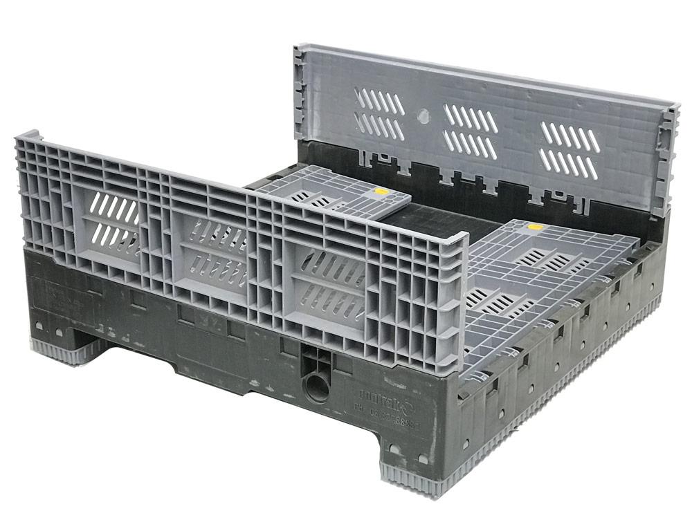 Plastic Folding 3/4 Bin Vented 470L Litre & 560H High