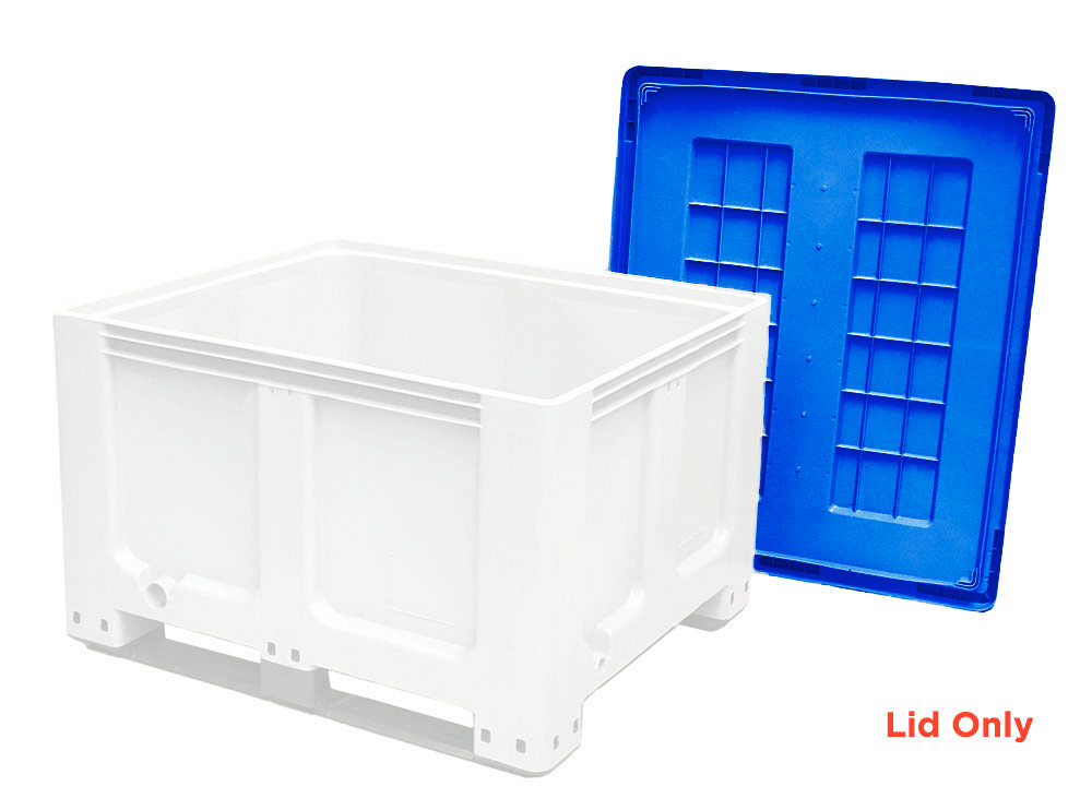 Lid for CTH2 800 Solid 520L Plastic Pallet Bin, CTH2 Lid Blue Colour