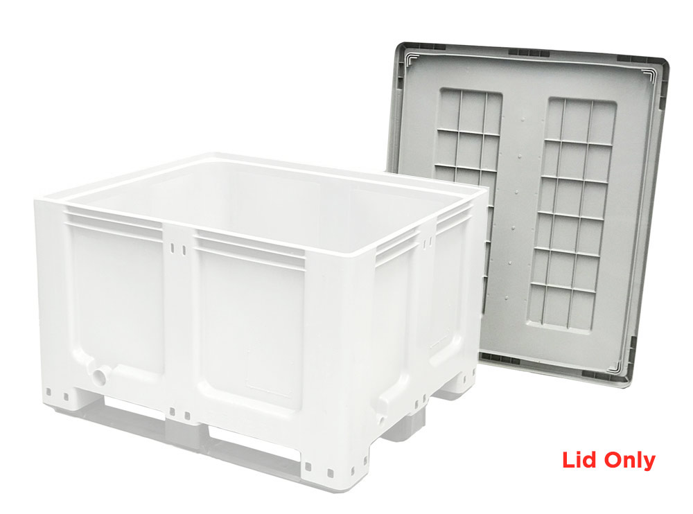 Plastic Lid only for 760 Solid 610L Plastic Pallet Bin in Grey Colour