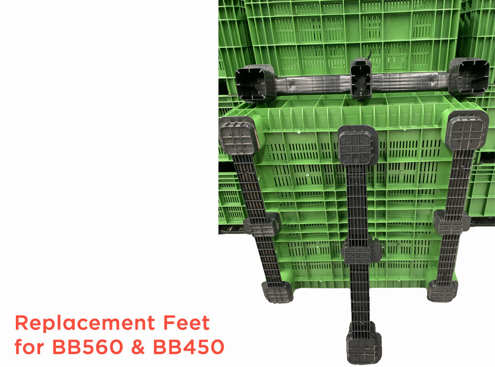 Spare Feet Side Runners for BB 560 & BB 450 Plastic Pallet Bins