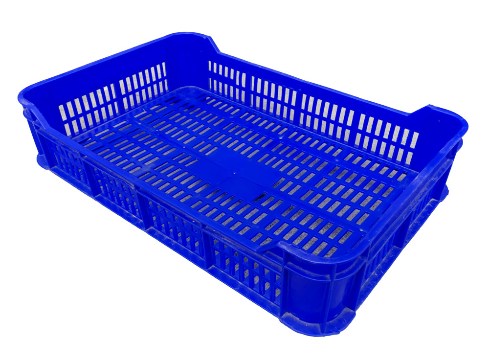 Plateau P1 Vented Plastic Tray Crate for Bakery Catering Tray