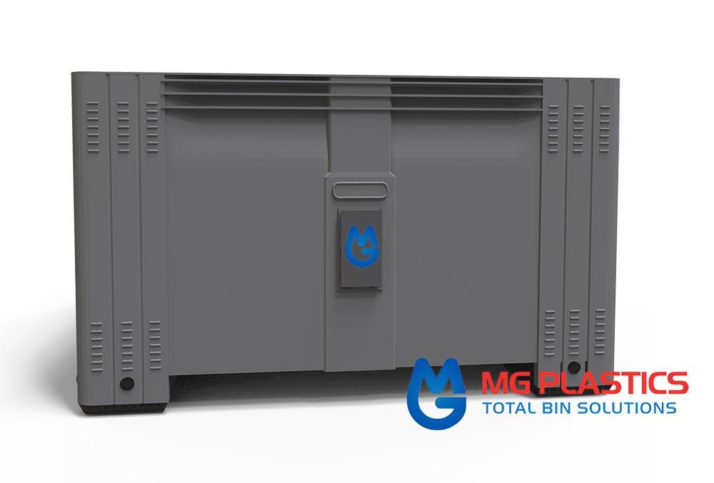 Super Bin 580 Vented Pallet Bin HDPE plastic in Dark Grey
