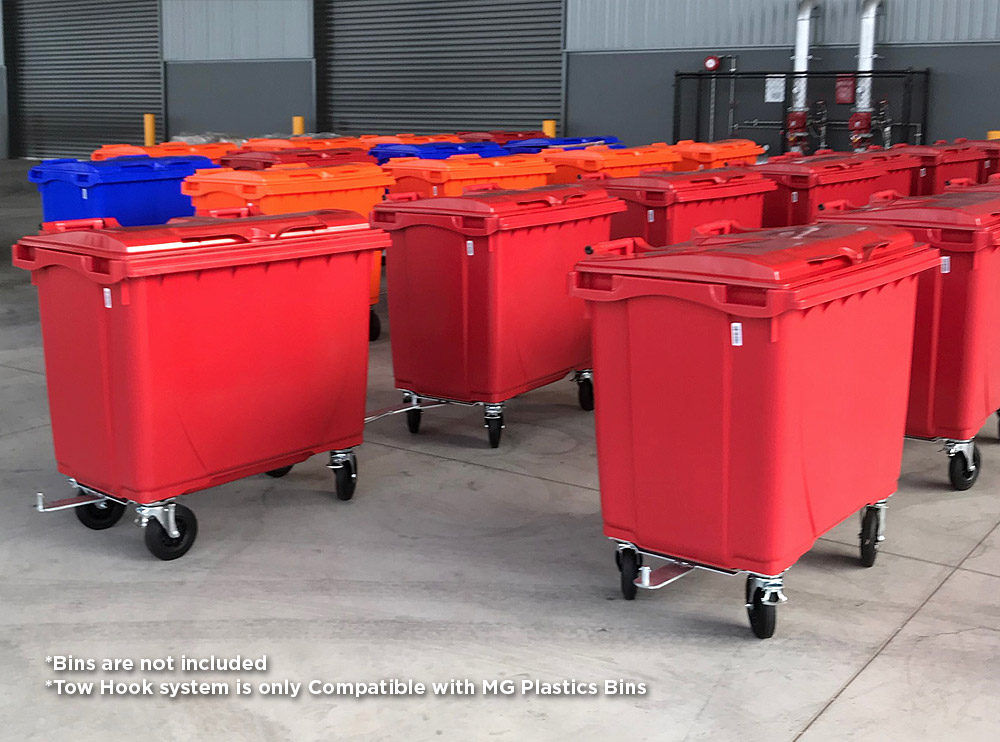 660L Plastic Bins Tow Hook System Kit