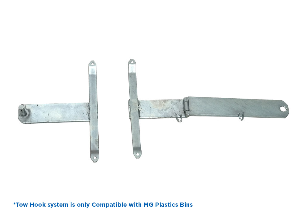 Tow Hook System Kit for 660L Plastic Bins