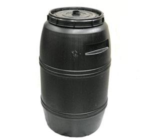220 litre Black Drum Food Grade HDPE Plastic Barrel