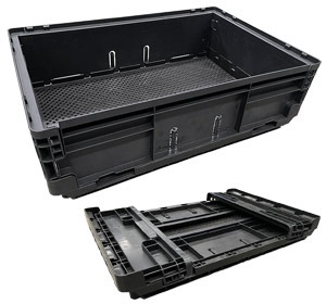 Foldable Collapsible Stackable Crate 25L