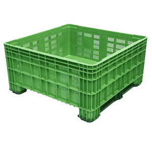 PRE-ORDER Only > BB 560 Vented 430L Litre Plastic Pallet Bin in Green