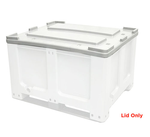 Lid for CTH2 800 Solid 520L Plastic Pallet Bin in Grey Colour