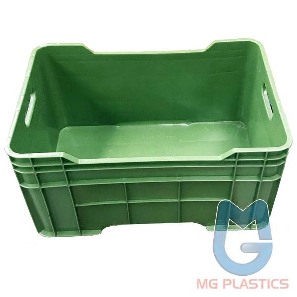 PRE-ORDER > DE Solid Plastic Crate 58 Litre Green