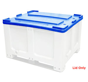 Lid for CTH2 800 Solid 520L Plastic Pallet Bin in Blue Colour