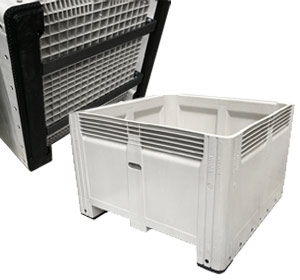 Nally MegaBin Solid 780L Storage Crate with Mild Steel Tipping Bars