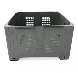PRE-ORDER > Super Bin 580 Vented Pallet Bin HDPE in Dark Grey